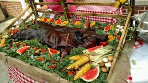Burks Farm - whole roasted hogs