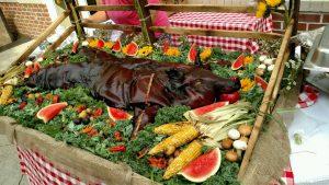 Burks Farm - whole roasted hogs